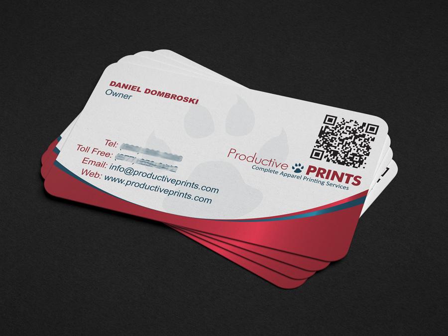 Productive Prints Business Card | SCR Enter